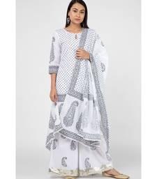 White Charcoal Suit Set