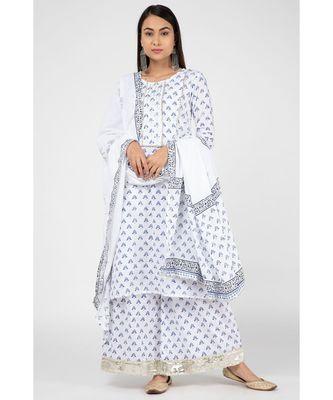 White Lajo Suit Set