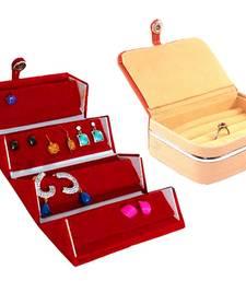atorakushon® Velvet Jewellery Box Necklace Ring Box Earring Folder Travelling Organizer Pack of 2 (multicolor)