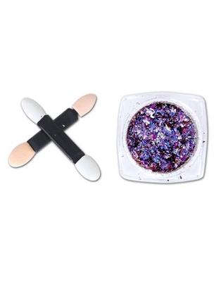 DesiButik Nail Art Aluminium Flakes powder Purple