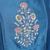 blue embroidered Chanderi kurtis