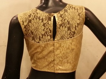 Golden chantilly net padded blouse