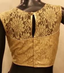 Golden chantilly net padded blouse