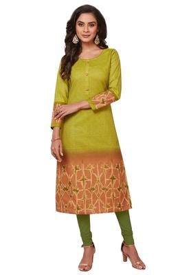 Multicolor printed cotton kurtas-and-kurtis