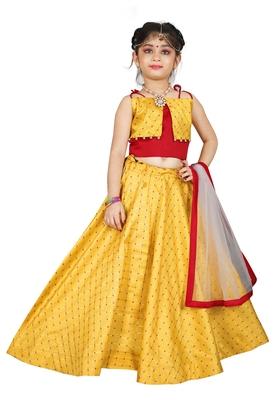 Kids Yellow Lehenga Choli