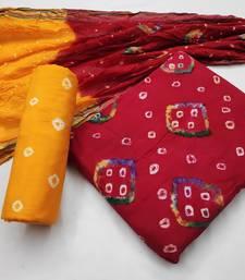 Red bandhej cotton salwar