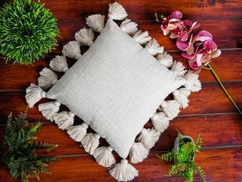 White Cotton Cushion Cover