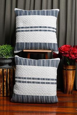 White Soft Jute Woven Cushion Cover