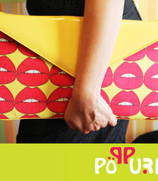 Yellow Smack them Envelope Clutch shop online