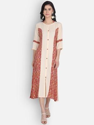 Cotton rayon printed kurti with plazzo