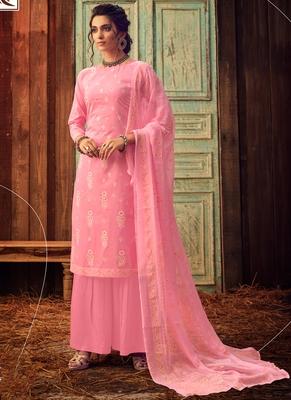 Pink Designer Cotton Salwar Kameez