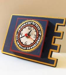 Buy Warli Table Clock  Blue wall-clock online