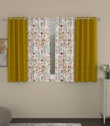 ROSARA HOME Ottoman Voile Pack of 4 Window Curtains