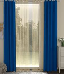 ROSARA HOME Erba Striped Pack of 4 Door Curtains