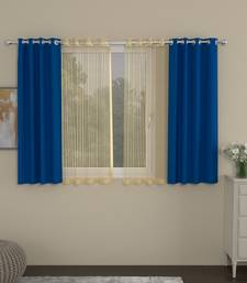 ROSARA HOME Erba Striped Pack of 4 Window Curtains