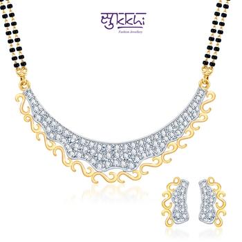 Sukkhi Creative Fashion on Gold and Rhodium plated CZ Mangal Sutra Set
