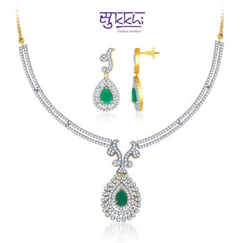 Sukkhi Gold  and Rodium plated Charming Emerald