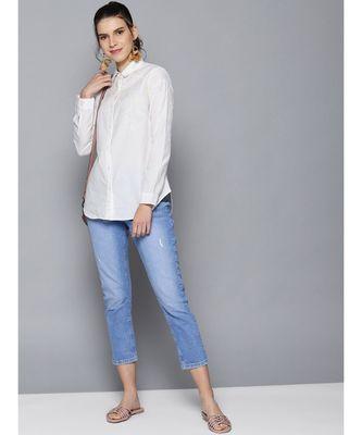 Label Ritu Kumar Off White Full Sleeves Shirt
