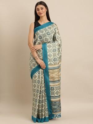 grey woven jute saree with blouse