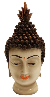Buddha Head in Polyresine Idol