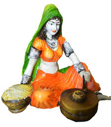 Buy Rajasthani Lady making Chakki sculpture online