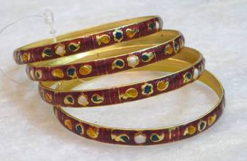 Classic Beautiful Ethnic Multicolored Meenakari Bangles