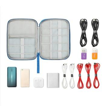 Shree Shyam Product Light Blue 1Pcs Electronics & Gadget Accessory Travel Storage Organizer Carry Bag for Unisex