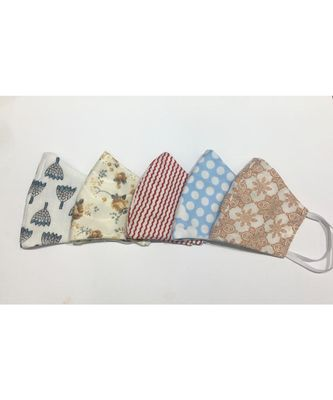 Multicolor Cotton Printed 3 layer  face masks