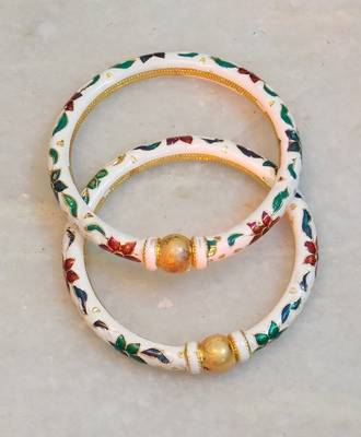 Classic ethnic beautiful traditional multicolored meenakari bangles