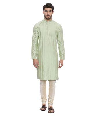 Mayank Modi Green Silk Blend Kurta Set