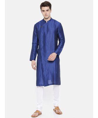 Mayank Modi Linen/Silk Blue Kurta Set