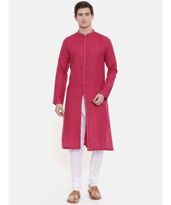Mayank Modi Pink Linen Kurta Set