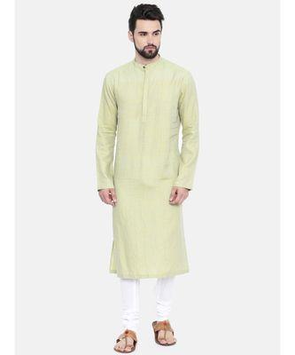 Mayank Modi Green Shaded Linen Kurta Set