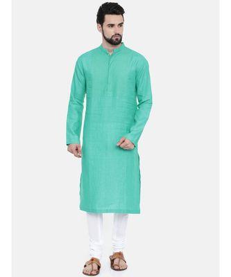 Mayank Modi Agua Green Linen Kurta Set