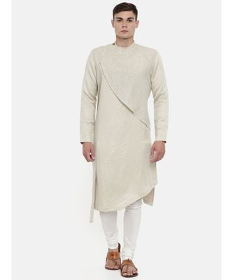 Mayank Modi Linen Shimmer detail Kurta