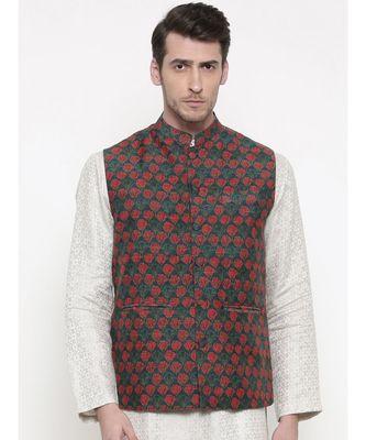 Mayank Modi Printed Chanderi Modi Jacket