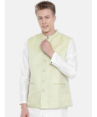 Mayank Modi Pastel Green Silk Jacket