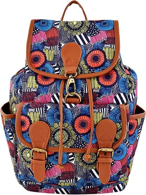 Lychee Bags Canvas Printed  Backpack