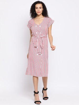Stripe Foundation Chic Women Dress