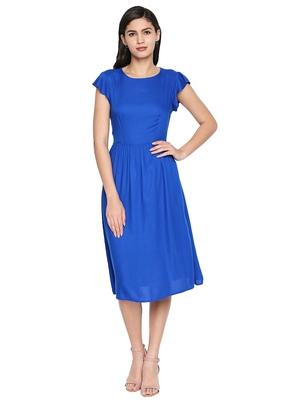 Royal Peacock Shell A-Line Dress