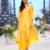 Turmeric Yellow Gold Kardana Chanderi readymade Tunic set