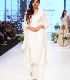 Cream Gold Kardana Chanderi and Jacquard Chanderi readymade Suit set