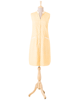 Yellow Plain Cotton readymade Tunic