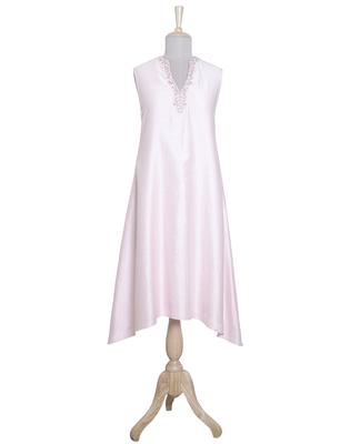 Blush Pink Plain Chanderi readymade Tunic
