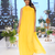 Turmeric  Resham and Kasab  Georgette readymade Gown