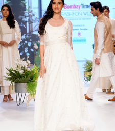 Cream  Polyester Gown