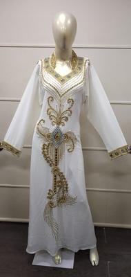 HAUTE COUTRE DESIGNER ABAYA TRADITIONAL FARASHA MAXI DRESS ARABIC GOWN