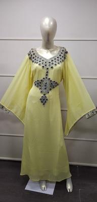 MOROCCAN EVENING GOWN MAXI DRESS FARASHA CAFTAN JALABIYA JILBAB ARABIC