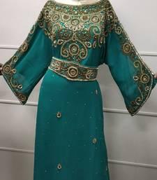 RHINESTONE TRADITIONAL ARABIC DRESS IRANIAN TEA PARTY EVENING LAWN GOWN