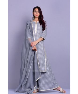 Grey and White Garara Set